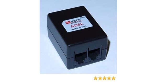 Amazon.com: Focuslife ADSL ADSL2+ DSL Modem Telephone Phone Fax In-Line Splitter Filter Network APN703: Computers & Accessories
