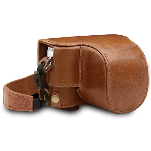 MegaGear MG1606 Ever Ready Genuine Leather Camera Case Compatible with Leica D-Lux 7 - Brown
