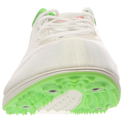 Zapato Puma Tfx Distancia V5 pista de Spike White/Strong Blue/Fluorescent Green Co