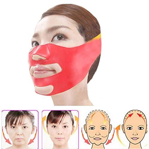Práctico Máscaras de estiramiento facial de silicona 3D que adelgazan la correa del vendaje de la belleza del cuello facial Cintura de la mandíbula que adelgaza la correa FGVBHTR