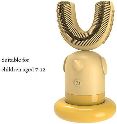 自動歯ブラシ、U字型歯ブラシソニック充電式電動歯ブラシ自動360度柔らかいシリコン歯ブラシ,B