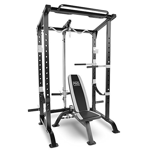 Marcy pro full cage and weight bench personal home gym total body workout system barbell academy Academy weight bench