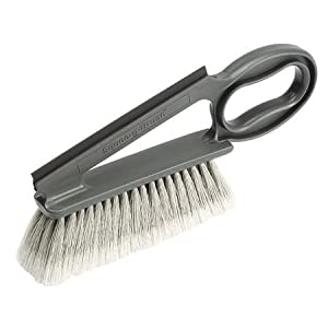 Dusting Brush with Squeegee, Gray, 14 in.