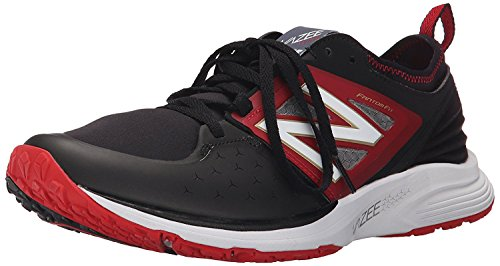 New Balance Mens Vazee Qik Training Shoe, Negro/Rojo, 43 EU/9 UK
