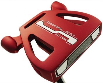 Ray Cook Golf Limited Edition Silver SR500 Putter, Red, 35″