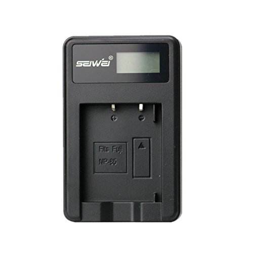 (NP-85 NP85 LCD Single Charger Battery Charger for Fuji SL300 SL260 SL1000 Sony HDV-CX1800E 3700E 6900E)