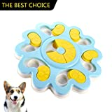Ansblue Dog Food Puzzle Toy Bowl Puppy Treat Dispenser Dog Training Game Slow Feeder – Improve IQ Slow Down Feed(Blue)