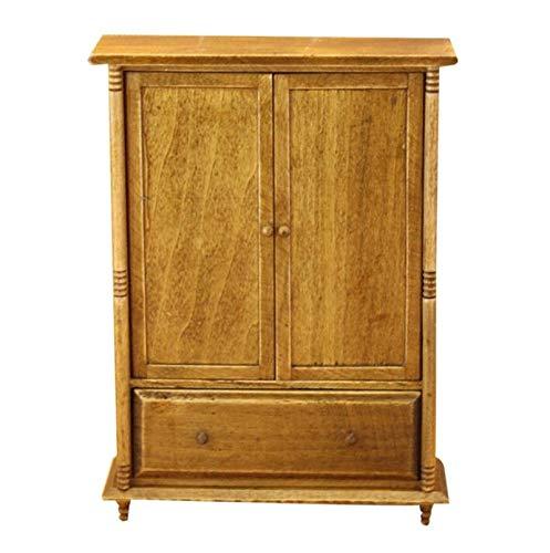 1//6 Dollhouse Miniature Furniture Model Wooden Cupboard Wardrobe Room Items