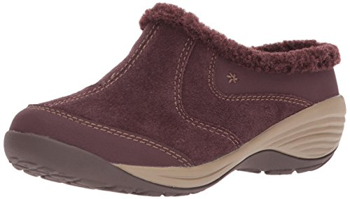 Easy Spirit Suede Clogs (Easy Spirit Women's Inglefur Mule, Wine/Wine Suede, 10 W US)