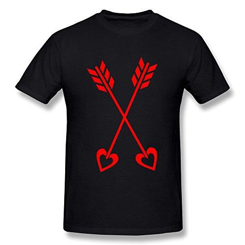 NUBIA The Blade Of Cupid Valentine Logo Fashion Tshirt For Mens Black Size L