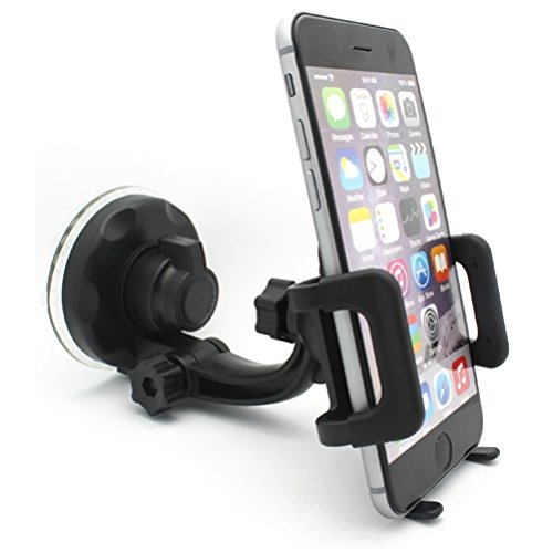 (Car Mount Windshield Phone Holder Swivel Cradle Stand Window Glass Dock for Samsung Galaxy S9+ S9, S8+ S8 S7 Edge S6 Edge+ Edge S5, Note 8 5 4, J7 J5 J3 - ZTE Grand X4 X3)