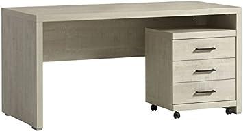 Comforium bureau moderne tendance cm bloc tiroir amazon