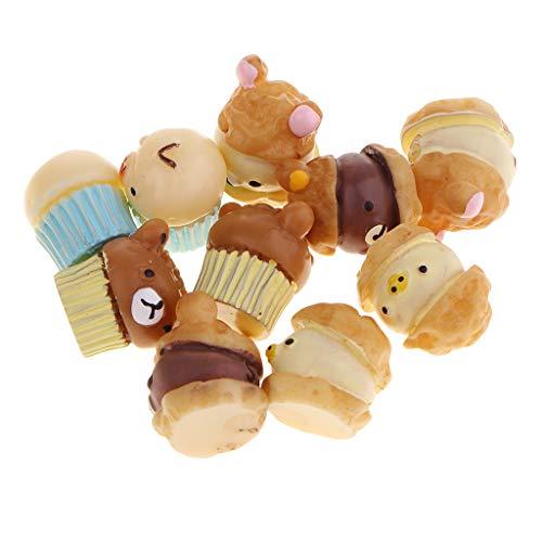 CUTICATE 10pcs Kawaii Cabochon Cartoon Resin Animal Ornaments Beads for Merry Christmas, Halloween Party Decorations, Kindergarten Handmade DIY Crafts]()