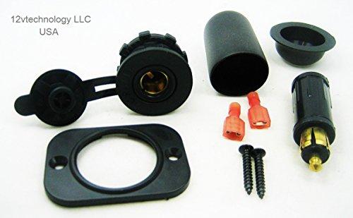 Waterproof 12v Accessory Continental DIN German Panel Dash Power Socket & Plug Jack BMW Powerlet Hella #Hb+/2sq/hplg/pba (Powerlet Panel)