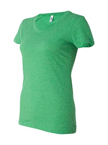 Muffin Green T-shirt - Bella womens Triblend Short-Sleeve T-Shirt(B8413)-GREEN TRBLND NEW-L