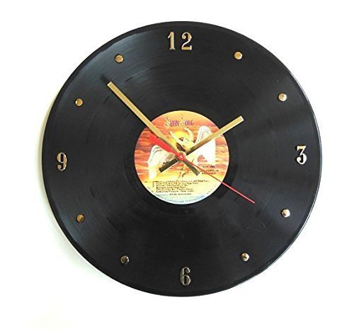 "Led Zeppelin Vinyl Record Clock . Handmade 12"" wall clock cr"