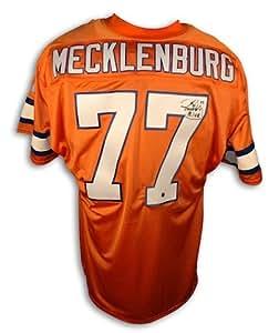 Autographed Karl Mecklenburg Denver Broncos Orange Crush Throwback Jersey