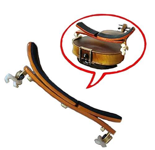 (Adjustable position maple shoulder rest / pad for 3/4-4/4 violin or 14