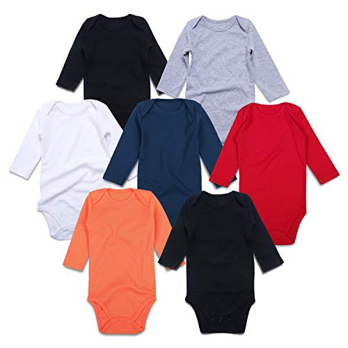 1a13f67ab Jual ROMPERINBOX Unisex Solid Multicolor Baby Bodysuits 0-24 Months ...