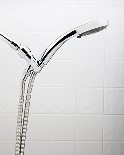 Fire Hydrant Spa Plaza Deluxe Spa Carmel Rain Handheld Shower Head with 59 Stainless Stretch Hose by Take A Shower LLC