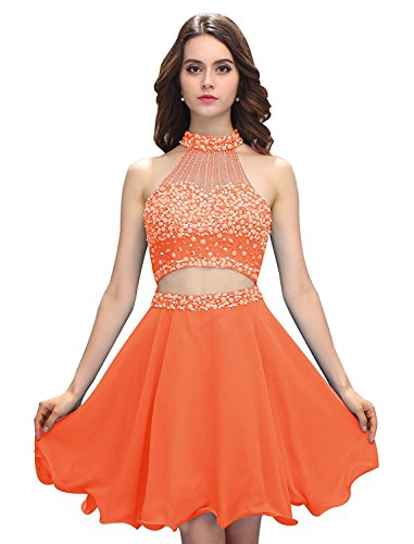 JYDress - Vestido - trapecio - para mujer naranja