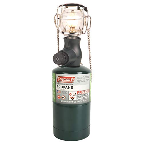 Coleman Propane Lantern | Compact One-Mantle Gas Lantern for Camping and Outdoor Use