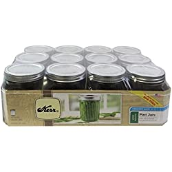Kerr 0518 wide mouth mason jar pint, 16oz(case of 12)