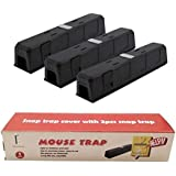 Mouse/Rats Trap, Rats/Mice Trap That Work Humane Power Rodent Killer 100% Mouse Catcher [Quick & Effective & Sanitary] Safe for Families and Pet Snap Trap Cover with 2 pcs snap Trap