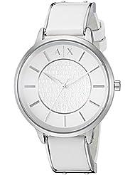 Armani Exchange Womens AX5300 White  leather Watch