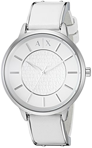Armani Exchange Women's AX5300 White  leather - Armani Woman