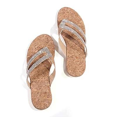 HIRIRI Women's Flip Flops Ladies Crystal Beach Sliders Casual Sandals Slippers Mules Slip On Shoes: Clothing