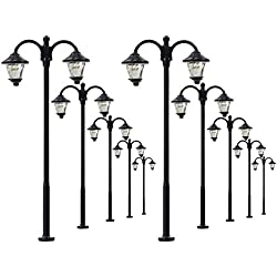 LYM18 10pcs Model Railway Led Lamppost Lamps Street Lgihts HO Scale 6cm 12V New