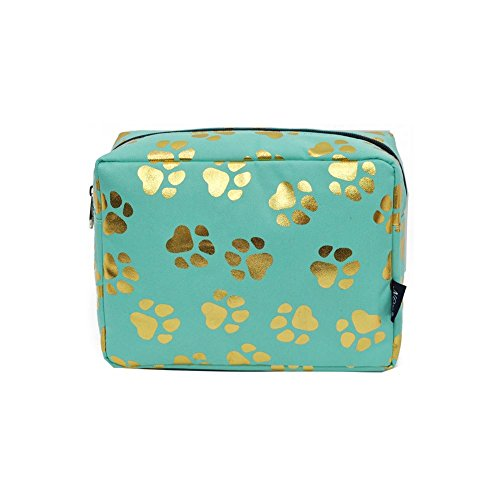 Collection Footwear - NGIL Large Travel Cosmetic Pouch Bag Spring 2018 Collection (Gold Puppy Paw Mint)