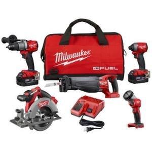 Milwaukee 2997-25 M18 FUEL 5-Tool Combo Kit with FREE IMPACT