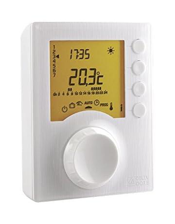 Prises Programmable Thermostat /Écran LCD pour Chauffage// Refroidissement Electrique AGPTEK Prise Thermostatique Digitale avec Interrupteur de minuterie Blanche Num/érique Contr/ôleur de Temp/érature d/'Ambiance