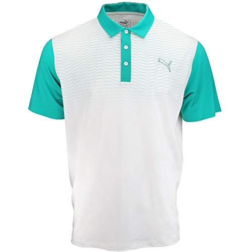 PUMA Golf Men's GT Color Block Fade Polo, Columbia, Medium
