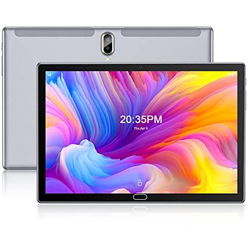 FEONAL Tablet 10 Pulgadas Android 10 4G LTE +WiFi, 4GB RAM+64GB ROM (TF 128GB), Octa-Core, Batería 6000mAh, Tableta con Cámara 13MP+5MP, 1080 FHD IPS, Dual SIM   GPS   OTG   Bluetooth 5.0-Gris a buen precio