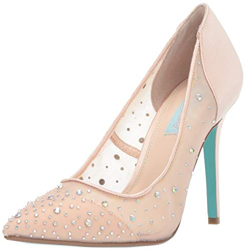 Blue by Betsey Johnson Women's SB-Rubie Heeled Sandal Champagne Satin 8.5 M US