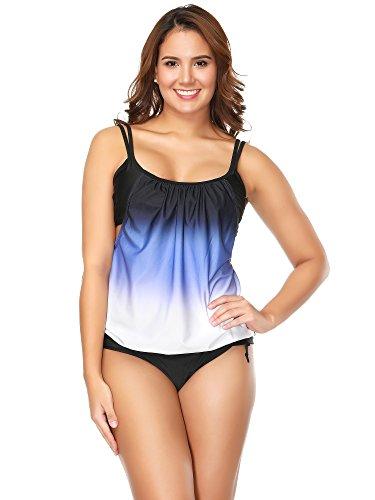 Elegante Pezzi Bikini Bagno Due Moda Tankini Donne Da 1 Multicolore Bozevon Costumi Costume stile pdHWqpB