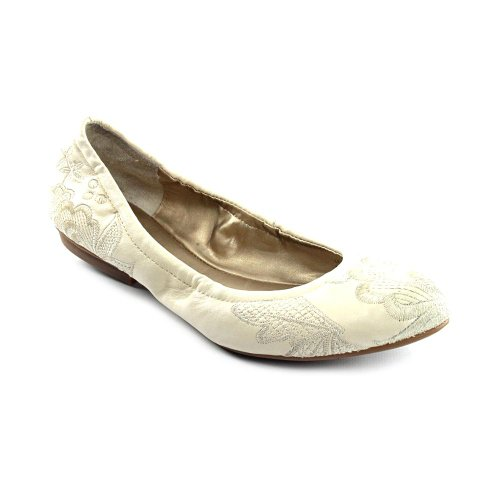 Tahari Women's Vivian Ballet Flat,Vanilla,10 M US