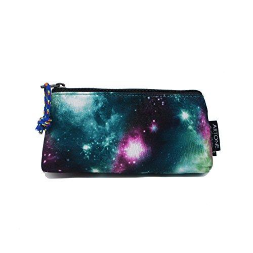 Artone Universe Galaxy Pencil Case Pen Bag Pounch Cosmetic Bag Green