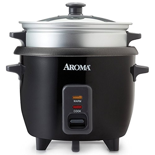 Aroma 3 Cups Uncooked/6 Cups Cooked Rice Cooker, Steamer, Silver (ARC-363-1NGB) Review