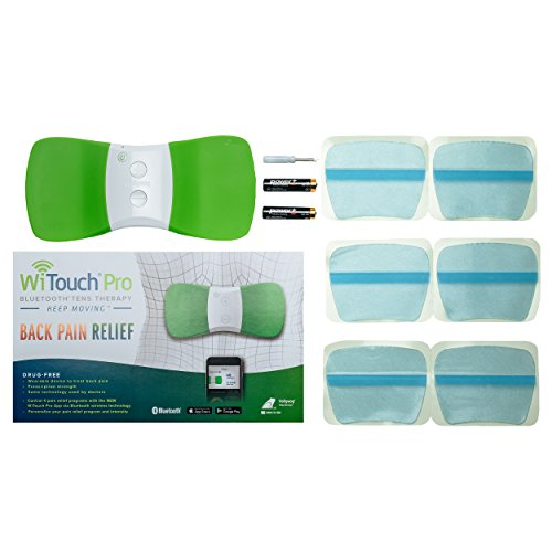 WiTouch Pro Wireless Bluetooth TENS - Includes 6 Gel Pads (3 Pairs of Gel Pads) by Hollywog (Image #1)