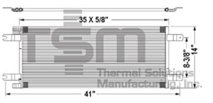amazon com tsmusa hd truck condenser for kenworth t170 2018 Kenworth T270