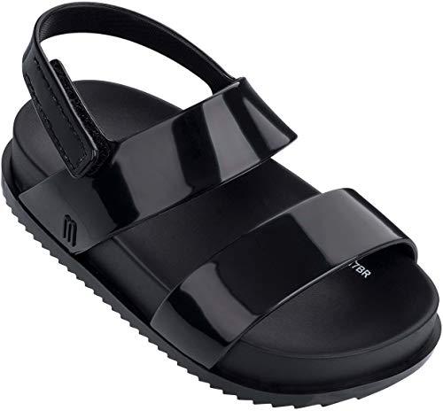 - Mini Melissa Girls' Mini Cosmic Sandal Slipper, Black, 12 Medium US Toddler
