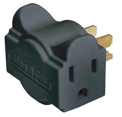 Ziotek ZT1120131 HC1 Black Liberator Dual Outlet Wall Adapte