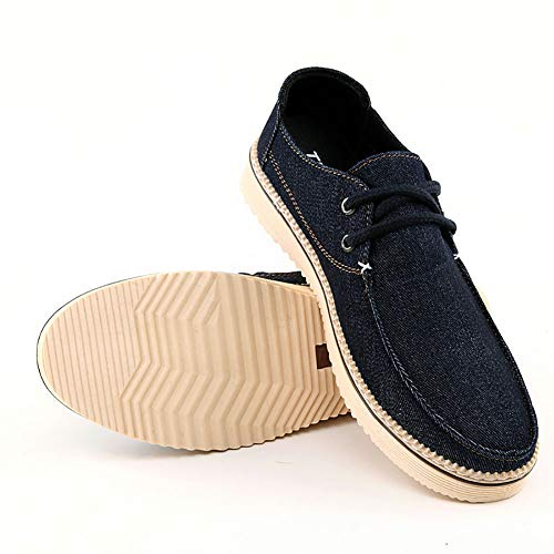 Uomo Canvas Traspirante Scarpe Large Tela Stringate Di Light Uomo Da Denim Da FHTD Black Scarpe Sneakers Basse Blue qP6gB