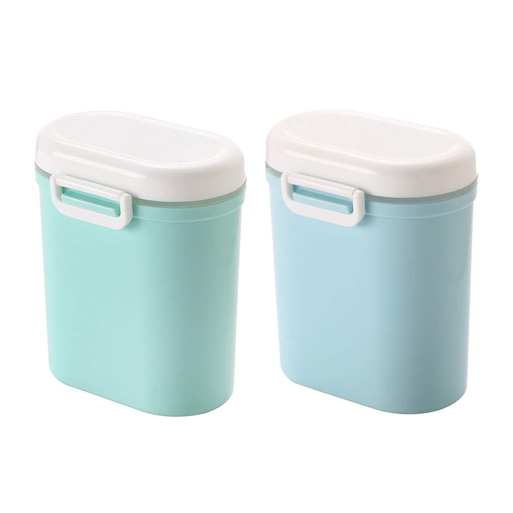 Homyl 2pcs Bo/îte de Lait en Poudre B/éb/é Doseuse sans BPA Rose Bleu