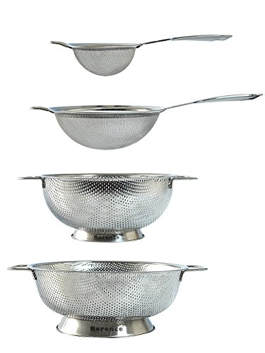 Rorence Stainless Steel Strainers and Colanders Set - 4 Pieces