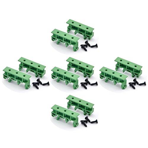 Electronics-Salon 5 Sets DIN Rail Mounting Adapter Bracket Holder Carrier Clips, for 35mm, 32mm or 15mm DIN Rail.